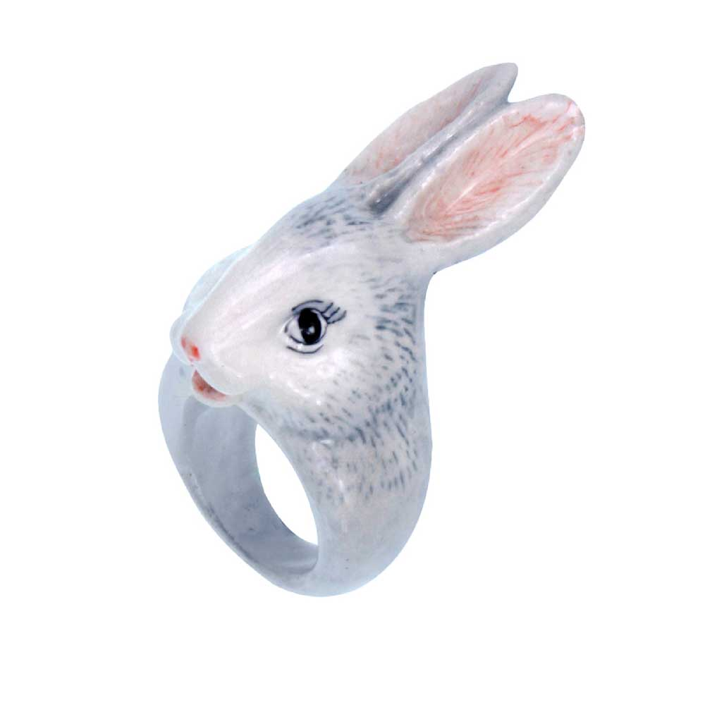 Grey Rabbit Ring