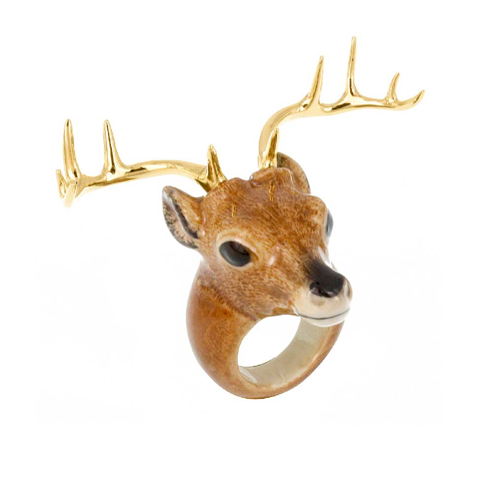 Deer ring made from nach bijoux
