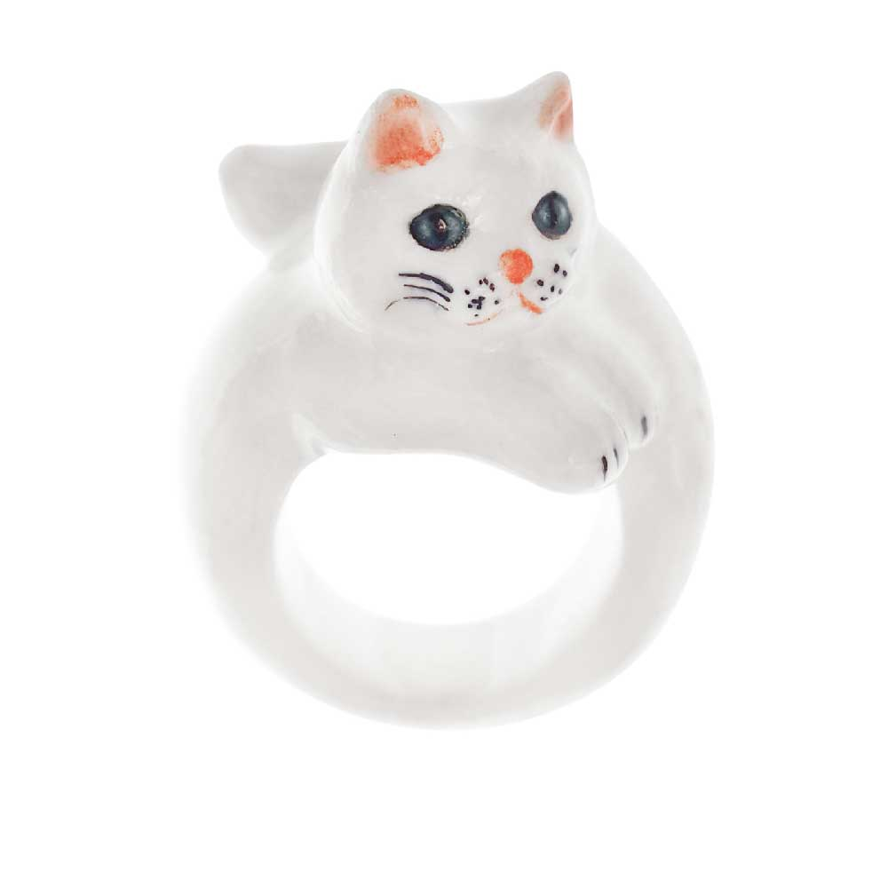White Persian Cat Ring