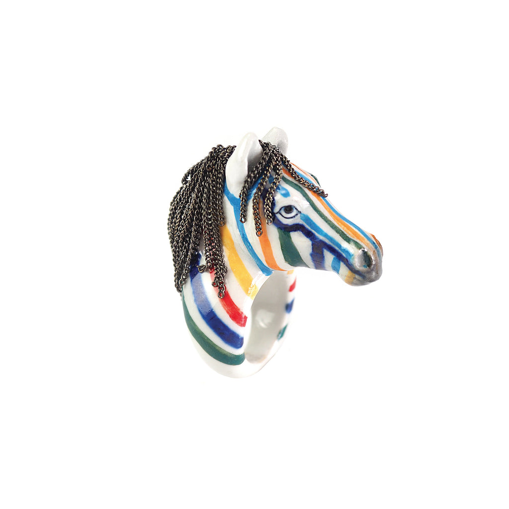 Colorful Zebra Ring