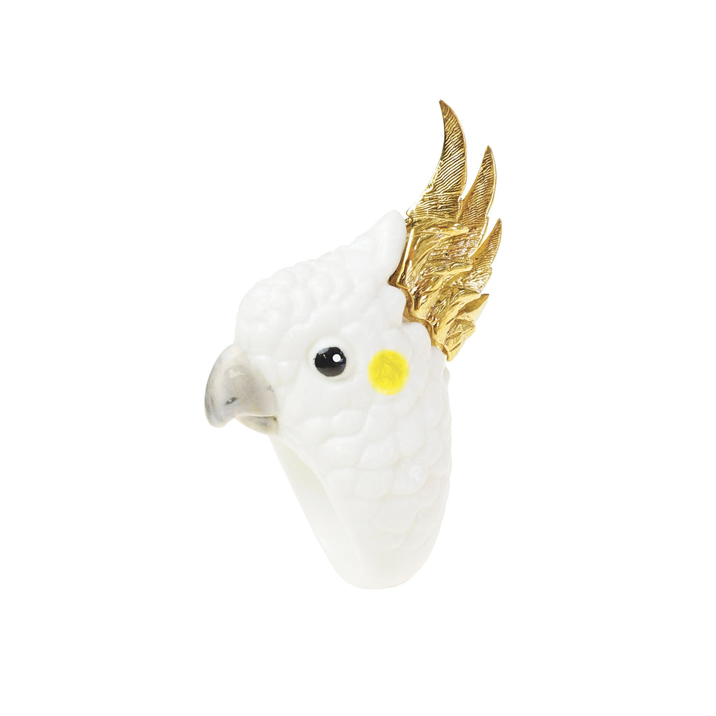 Gold Cockatoo Ring