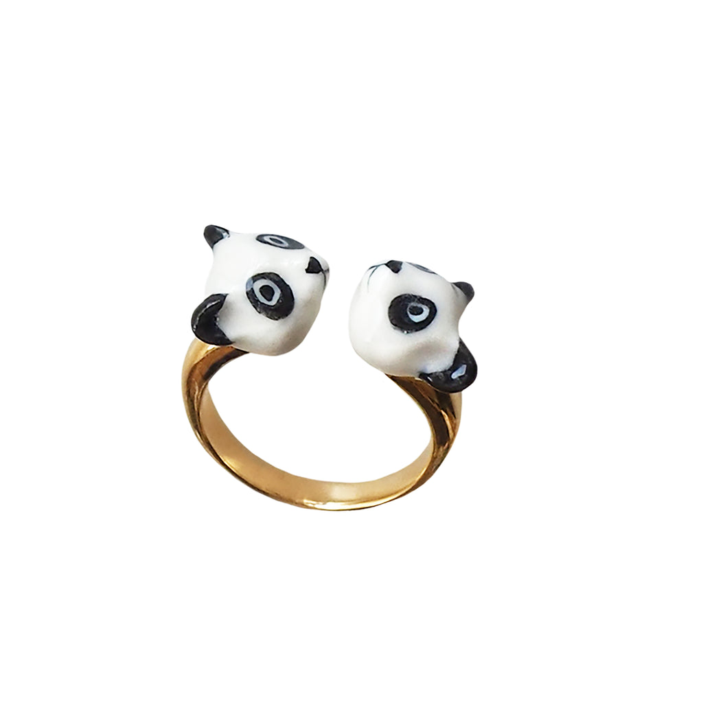 Panda face to face ring