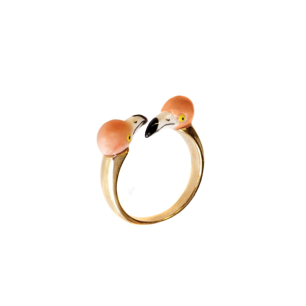 Flamingo face to face ring