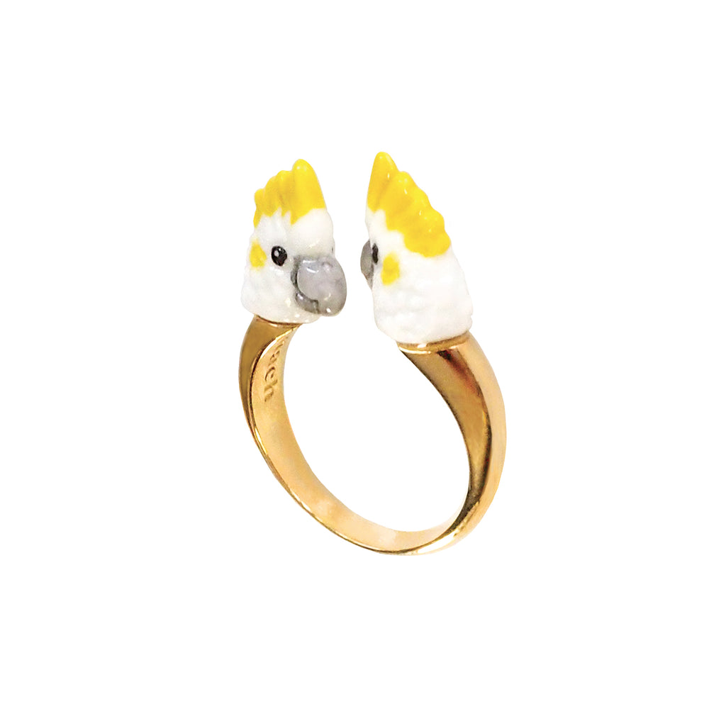 White Cockatoo Face to Face Ring