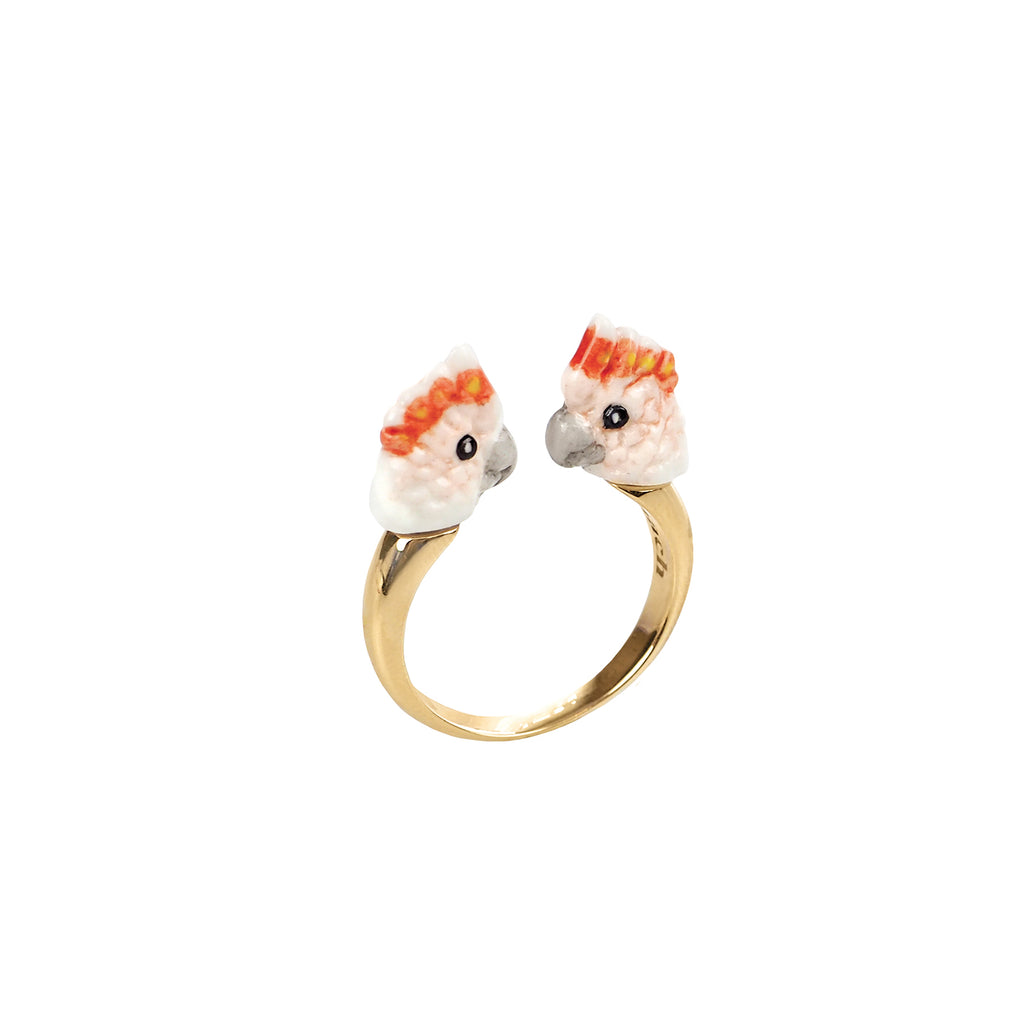 Pink Cockatoo Face to Face Ring