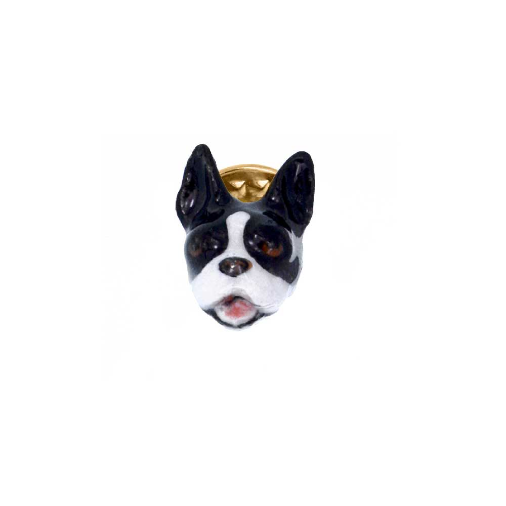 Pin of a french bulldog in black and white Nach Bijoux