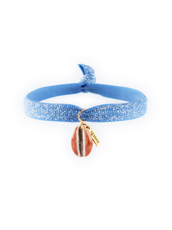 Seashell Elastic and Porcelain Twistbands bracelet