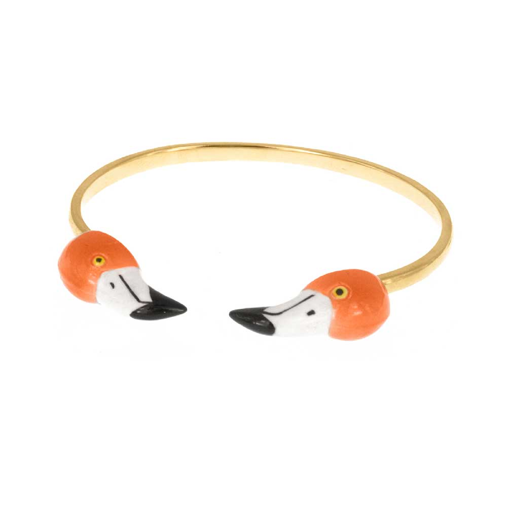 Flamingo face to face bracelet