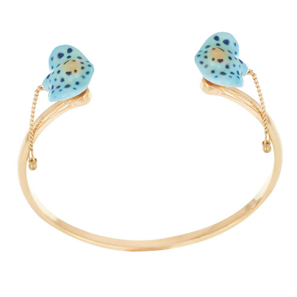 Blue Spotted Stingray face to face bracelet