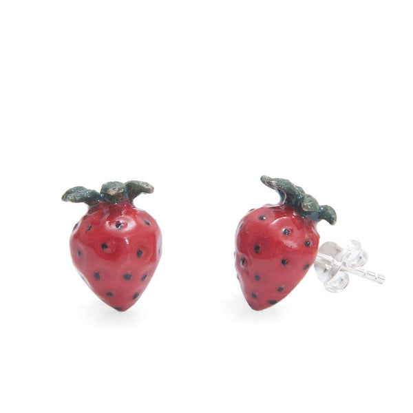 Natural Strawberry Stud Earrings