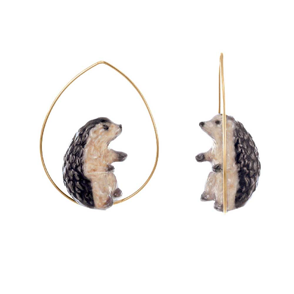 Hedgehog Hoops earrings