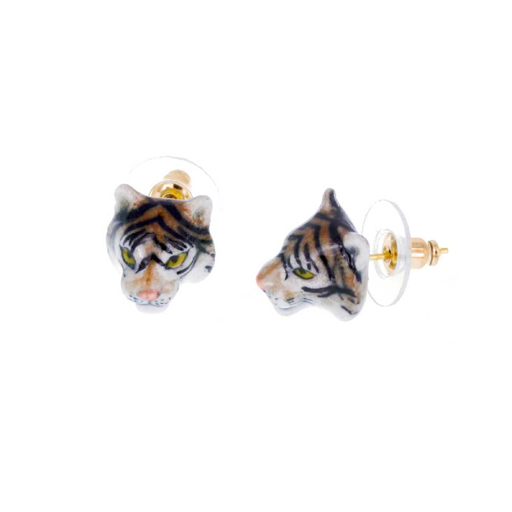 Mini Tiger Head Studs Earrings