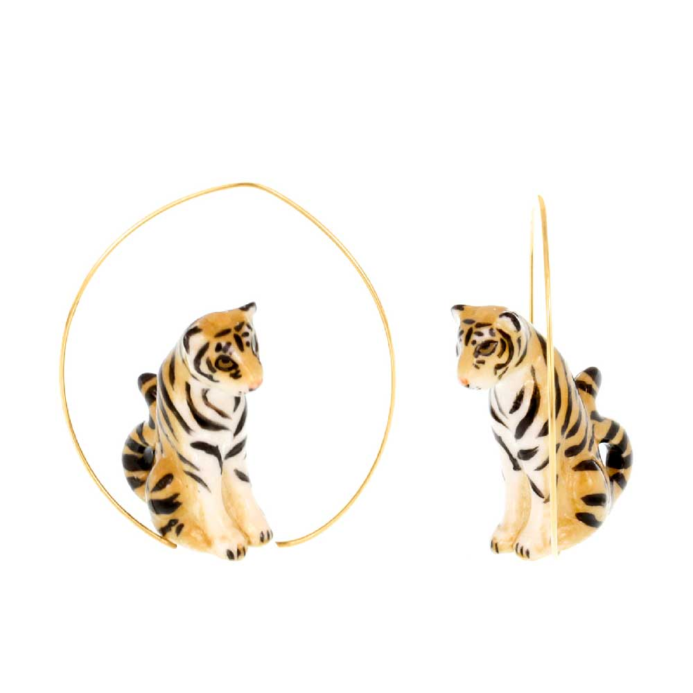 Tiger Hoops earrings