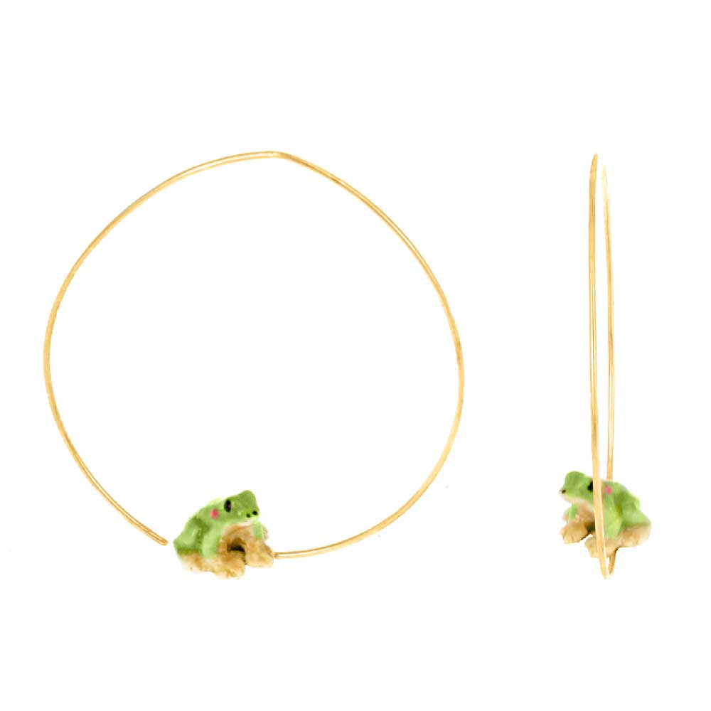 Mini Frog hoops earrings