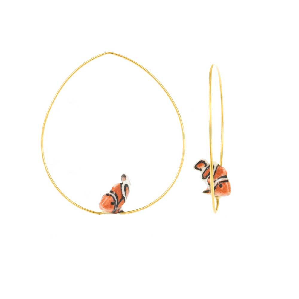 Clownfish Hoops earrings