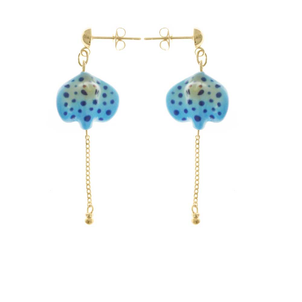 Nach Bijoux Blue Spotted Ray earrings