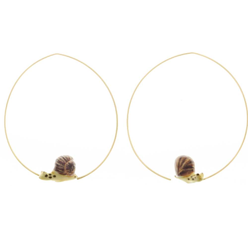 Mini Snail hoops earrings