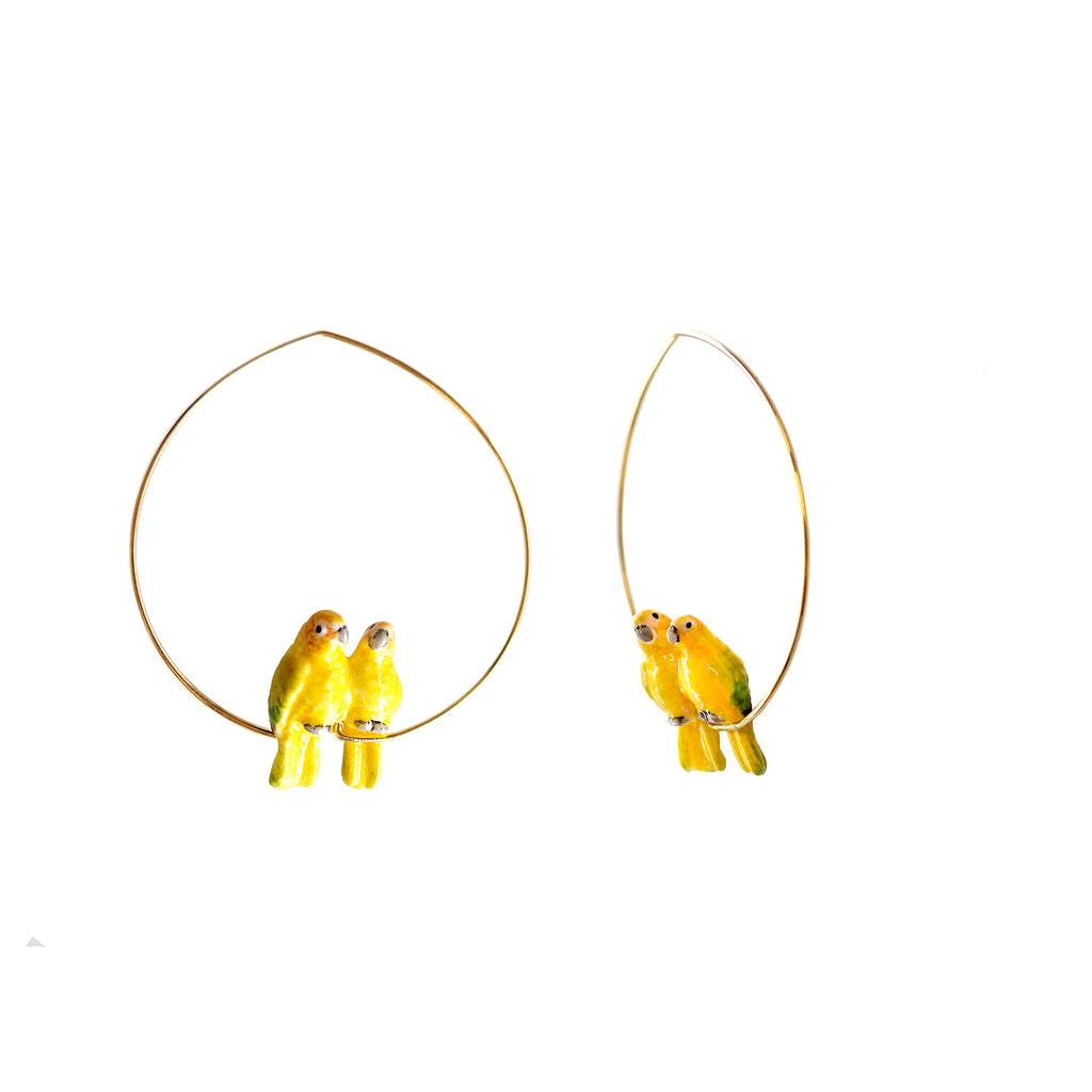 Lovebirds Hoops earrings