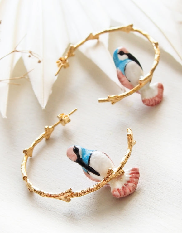 Hummingbird Branch Earrings