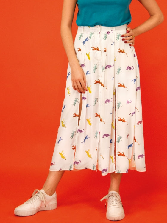 Capsule Collection Feline & Leo White skirt