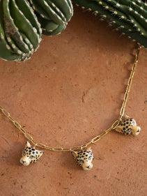 Leopard Heads Necklace