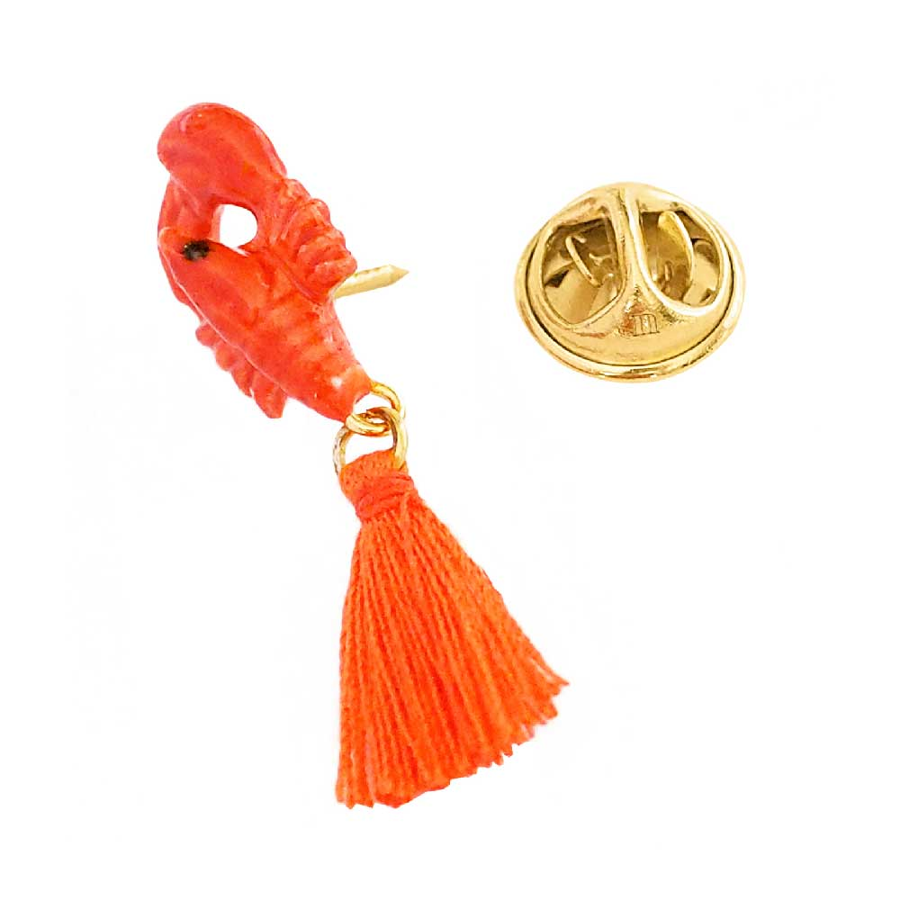 Lobster with Pompon pin