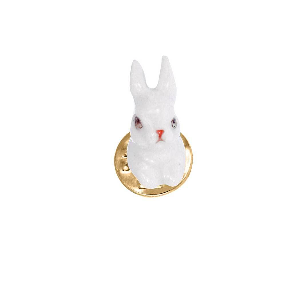 Mini White Rabbit pin