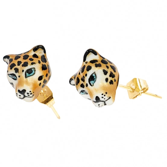 Mini Leopard Head Studs Earrings
