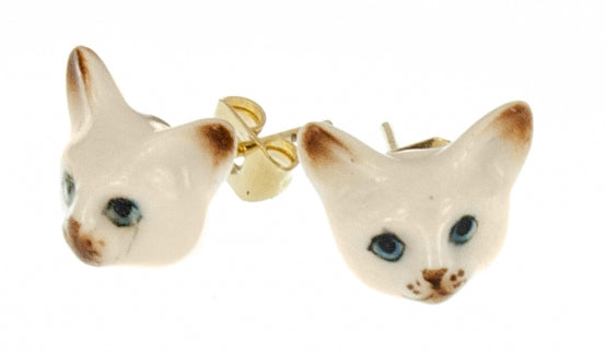 Mini Siamese Cat earrings studs
