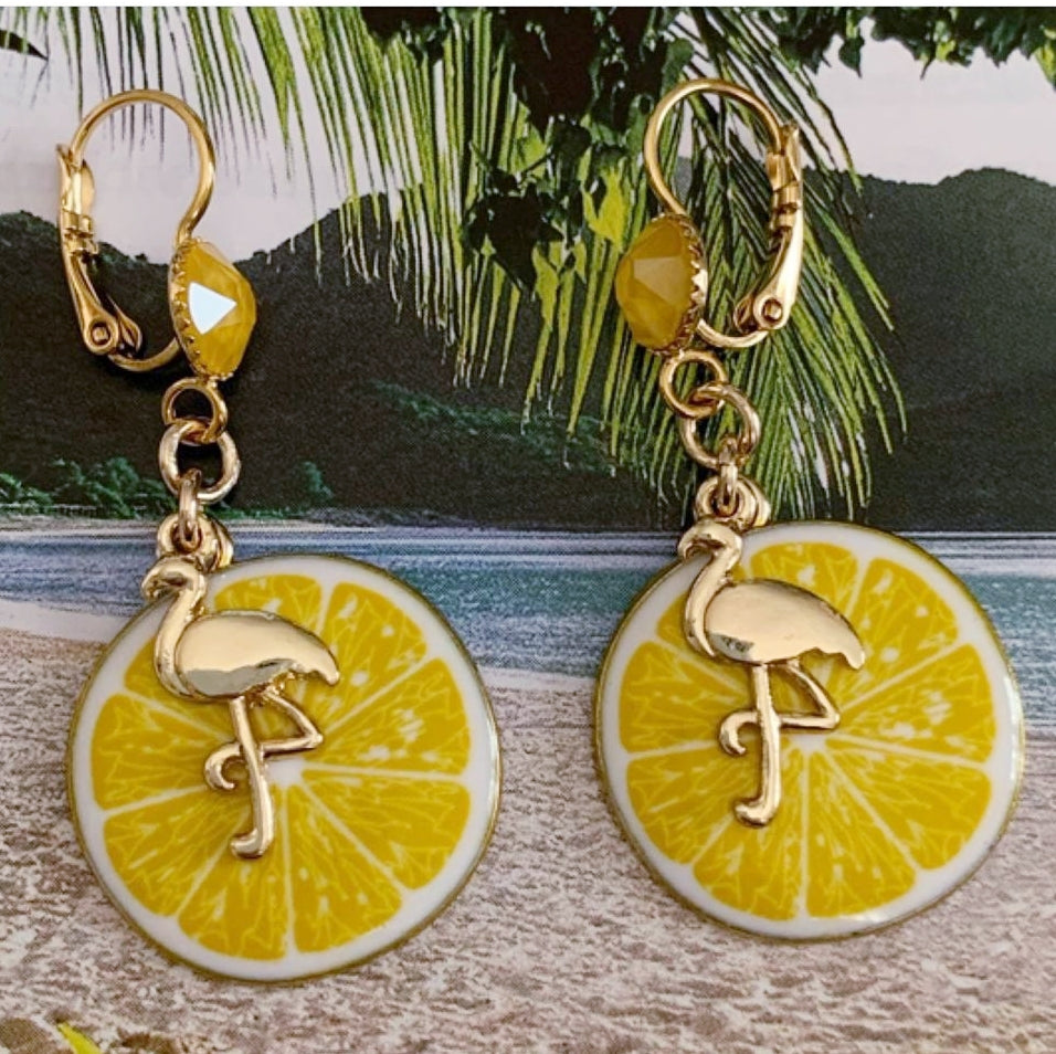 Mojito Yellow Earrings