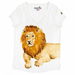 Lion T-shirt with porcelain figure on the right