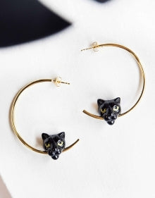 Noir Sauvage Black Panther Hoops