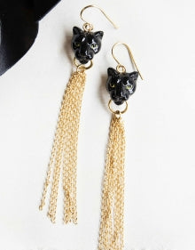Noir Sauvage Fringe Earrings
