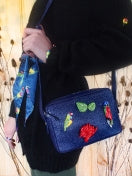 "Blue Clutch Bag ""Nature Morte"""