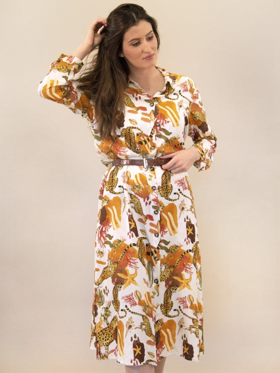All Over Terracotta Long Dress