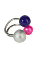 Interchangeable Ring 1 silver bead and  2 enamel beads