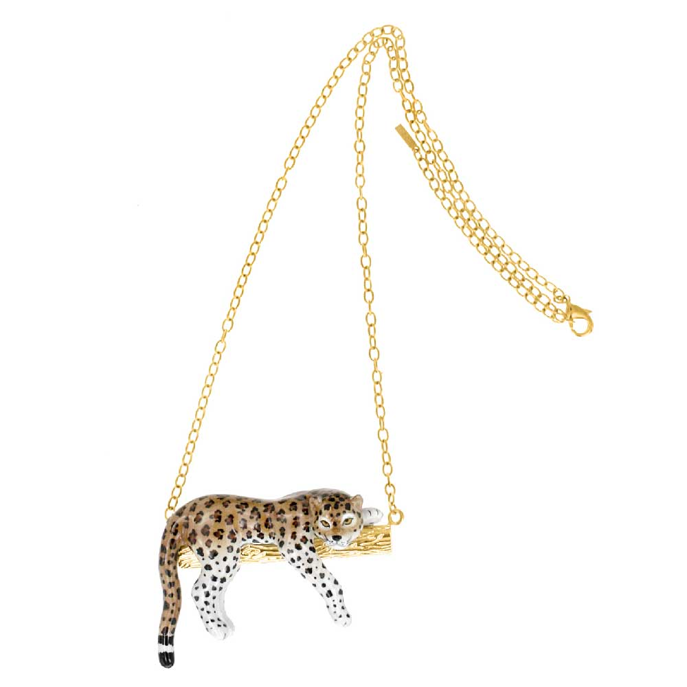Leopard on a Branch Necklace