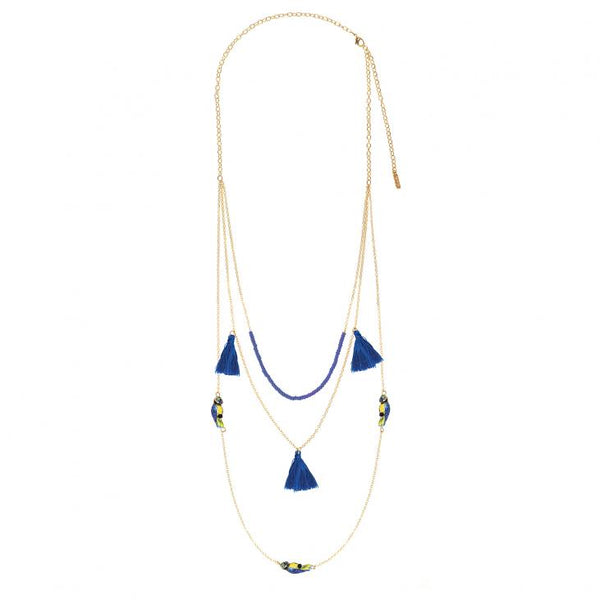 Blu Parrot Multichain Necklace