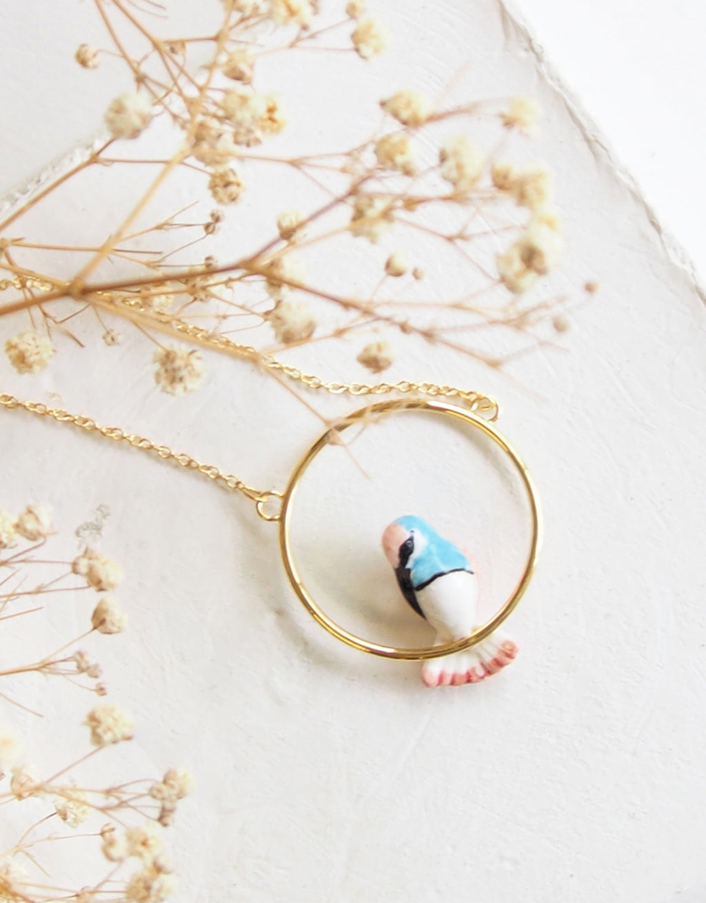 Hummingbird Mini Round Necklace