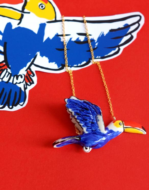 Limited edition Castelbajac Paris x Nach Toucan necklace