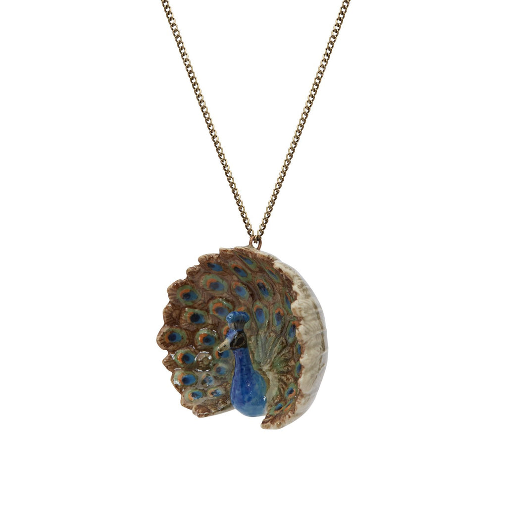 Natural Peacock Necklace