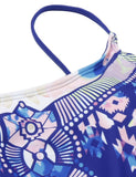 Sapphire Blue Ladder One Piece Swimsuit