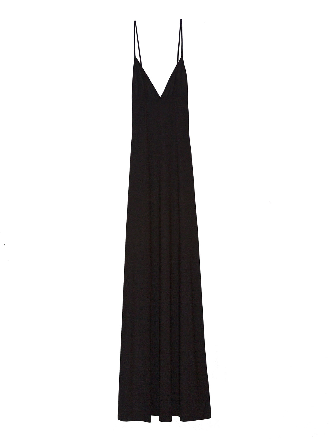 Super stretch 90's inspired jersey slip dress with adjustable straps in black