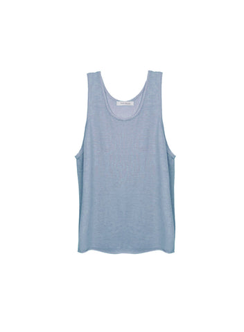 Cashmere feather weight tank in lavanda