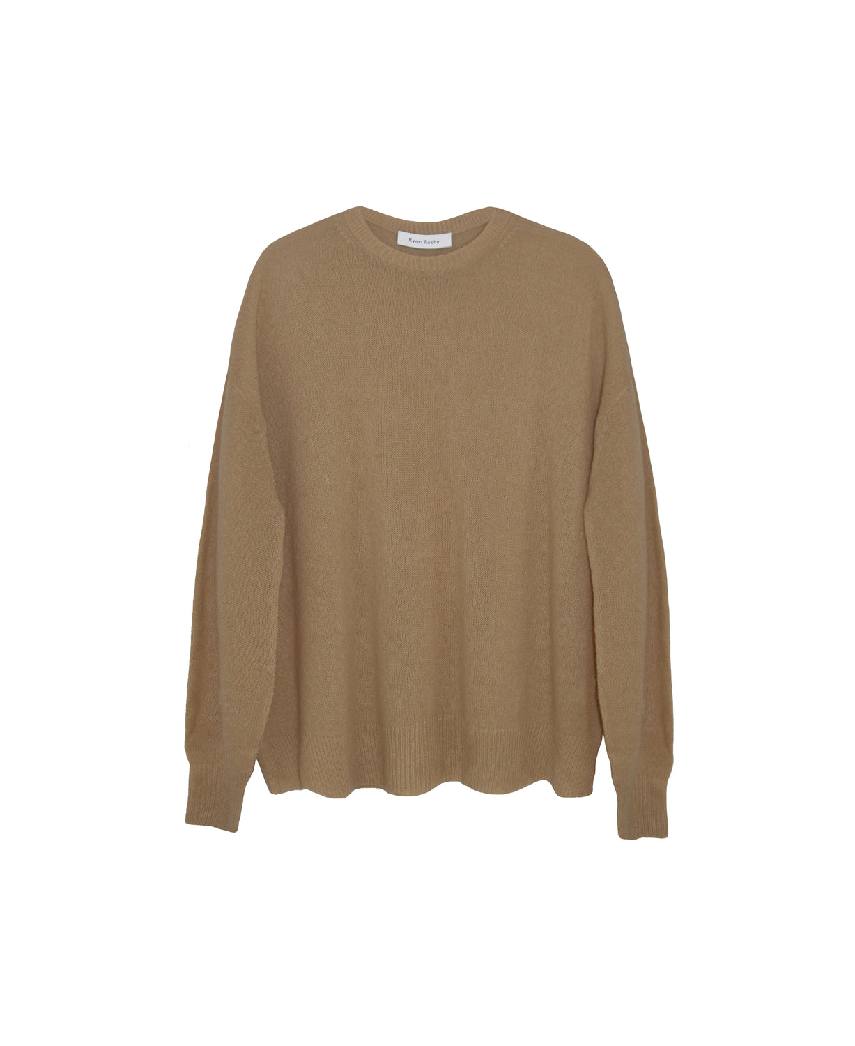 Feather weight, cloud cashmere and silk sweater in gorgeous in latte