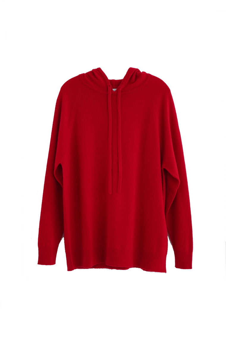 Cashmere luxury lounge hoodie in red