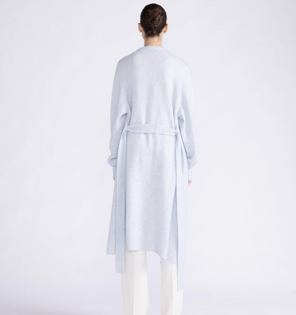RYAN ROCHE CASHMERE SILK ESSENTIAL MIDI CARDIGAN WITH BELT