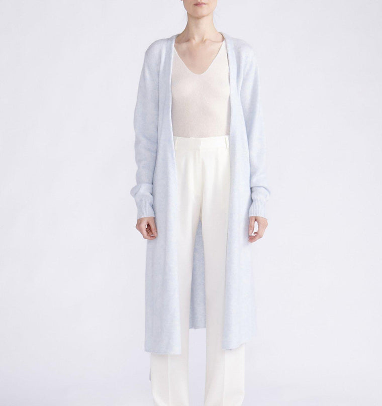 CASHMERE SILK ESSENTIAL MIDI CARDIGAN WITH BELT