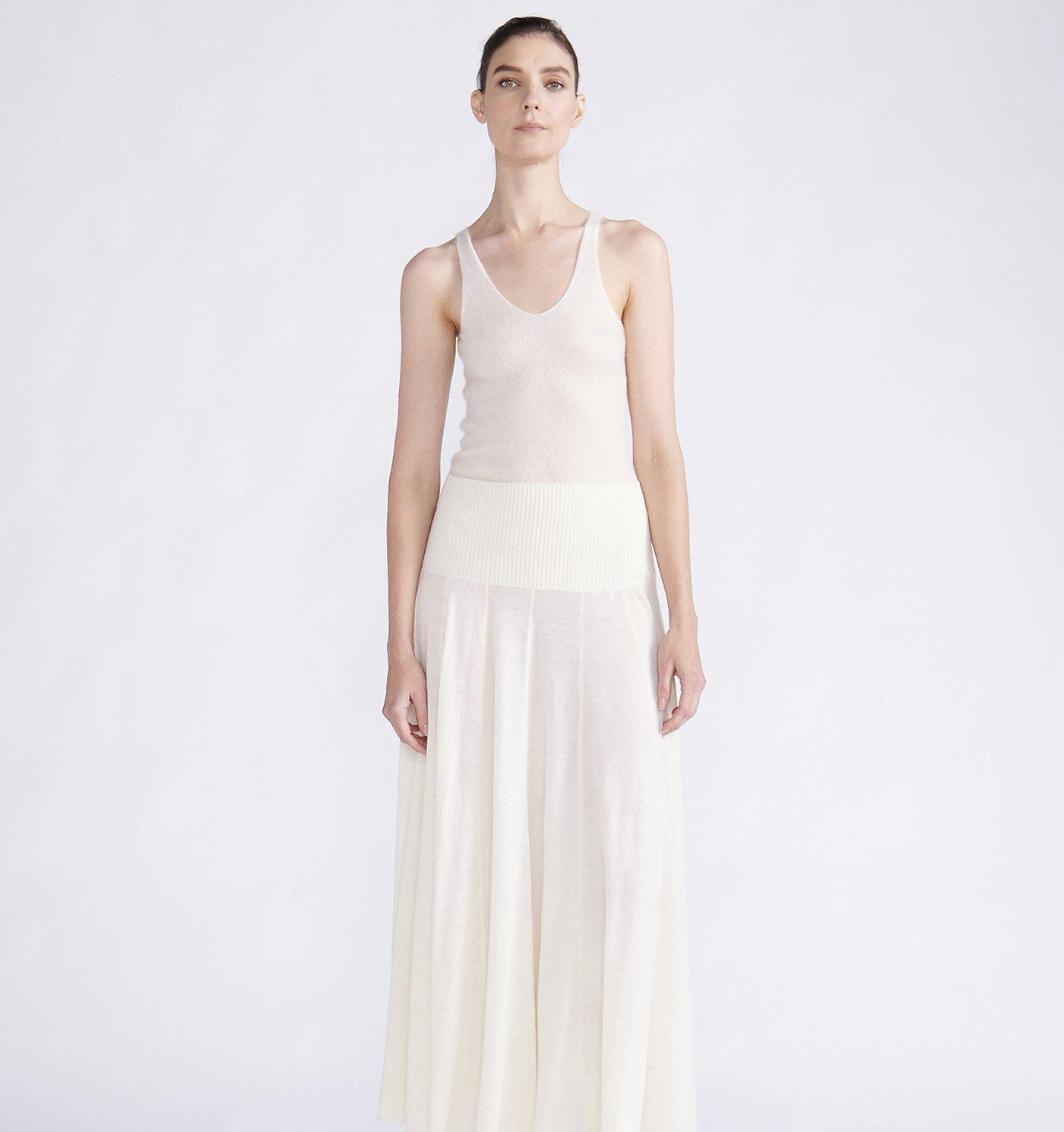 RYAN ROCHE CASHMERE SILK TANK TOP