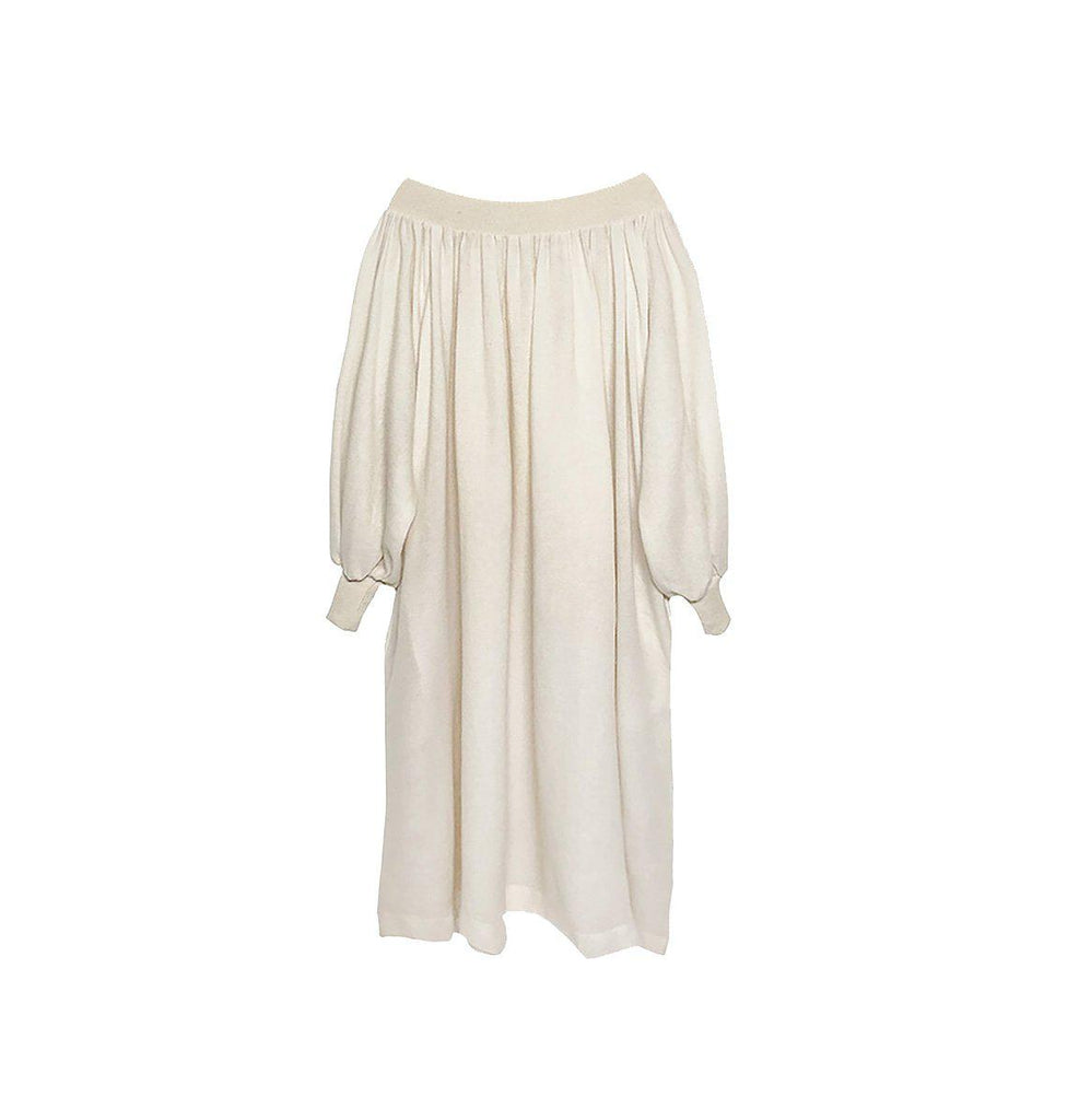 RYAN ROCHE CASHMERE WOVEN OFF-THE-SHOULDER MAXI DRESS